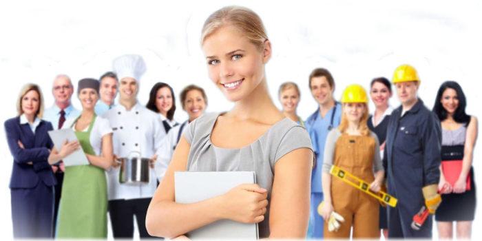Представители различных профессий, которые работают в России