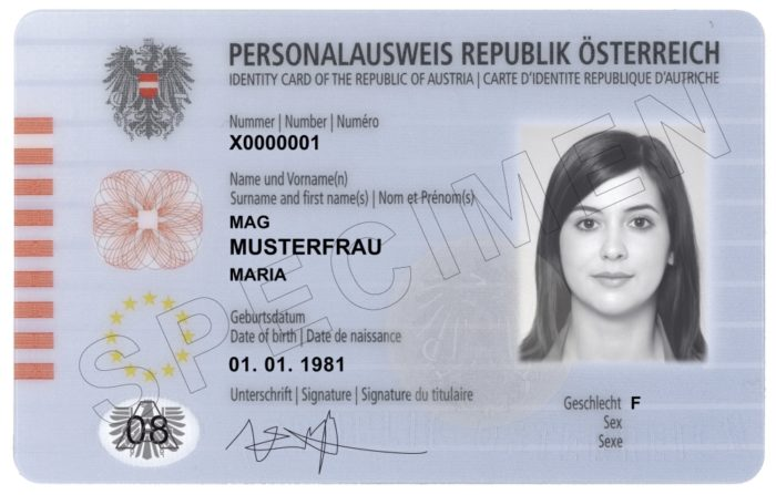 Идентификационная карта гражданина Австрии