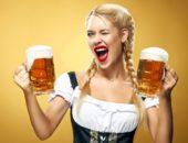 иностранка с пивом