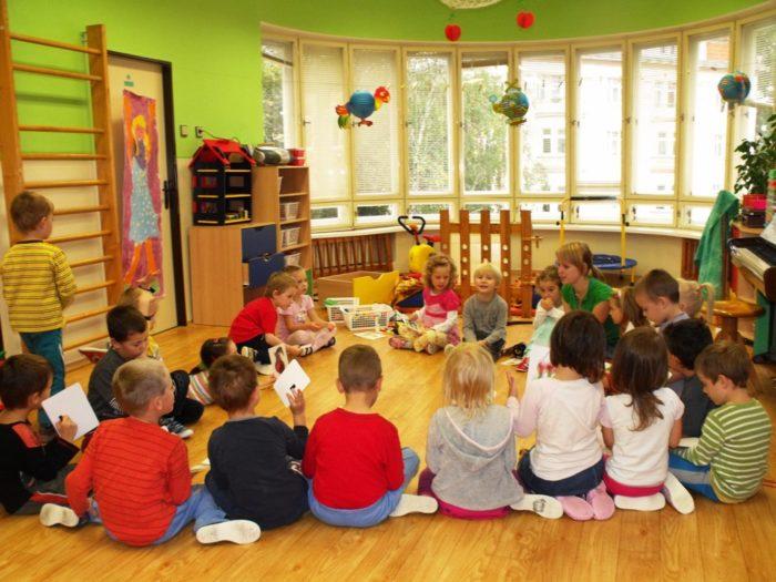 Дети в чешском детском саду