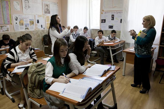 Урок в грузинской школе