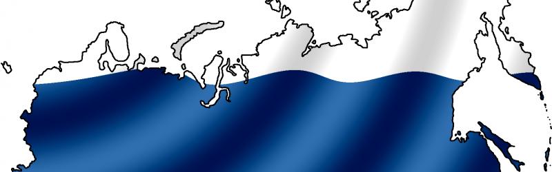 Карта России и флаг