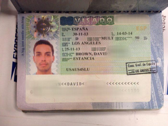 Национальная виза Испании