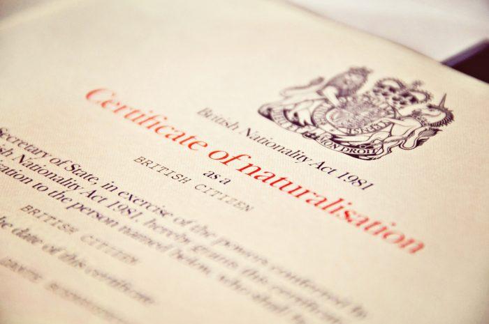Сертификат о натурализации