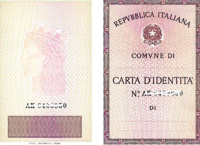 А carta d'identità