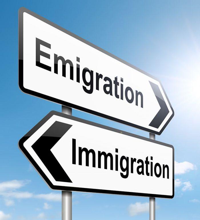 Иммиграция или эмиграция