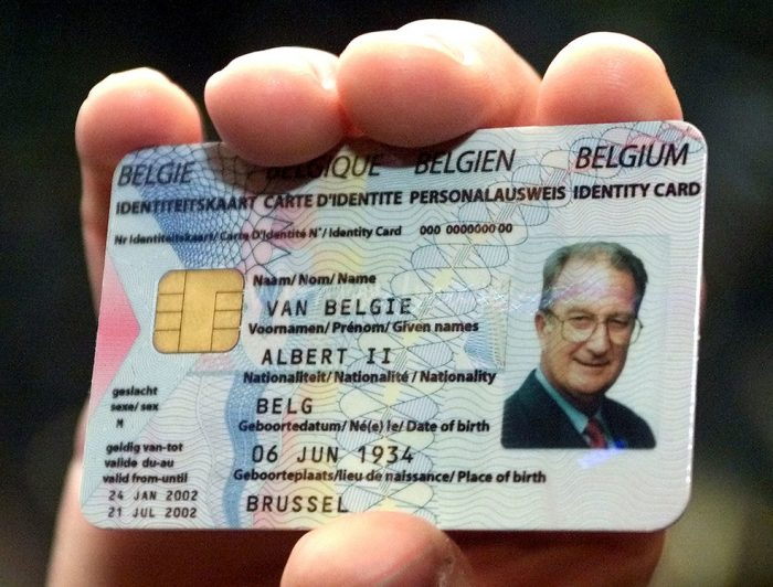 Идентификационная карта жителя Бельгии