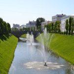 Каскад фонтанов на реке Булак
