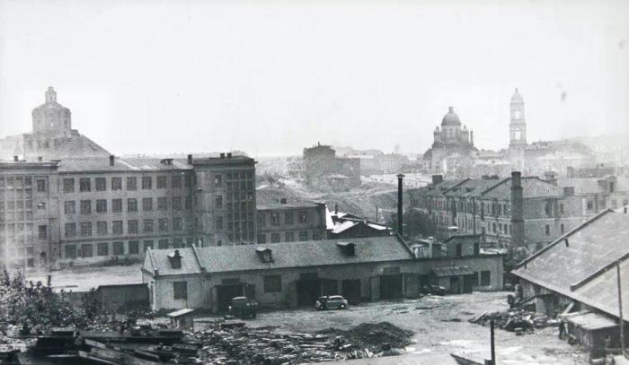 Старое изображение винного завода в Москве