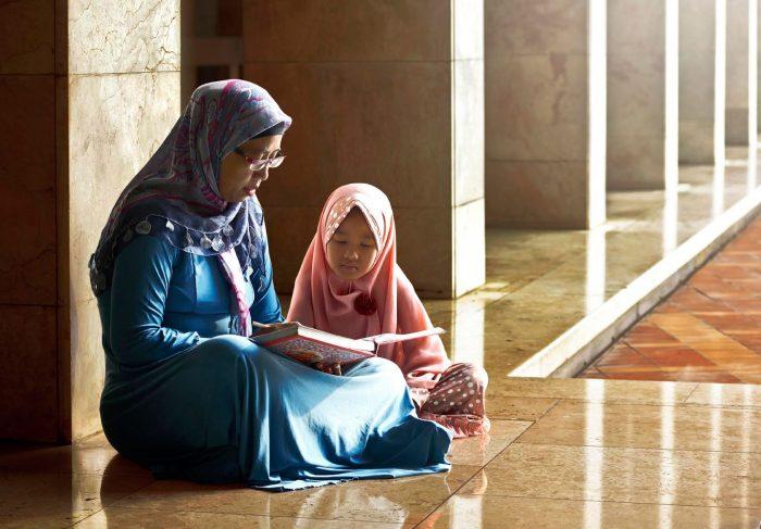 Мусульмане мама и дочь