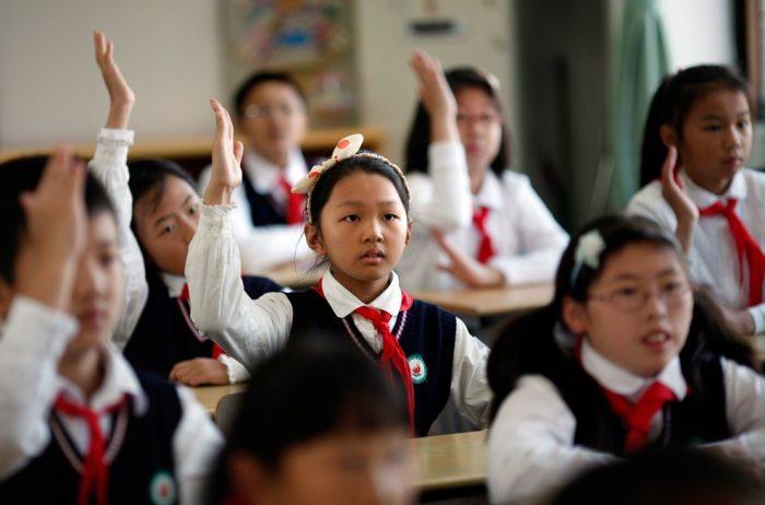 Японские дети в школе
