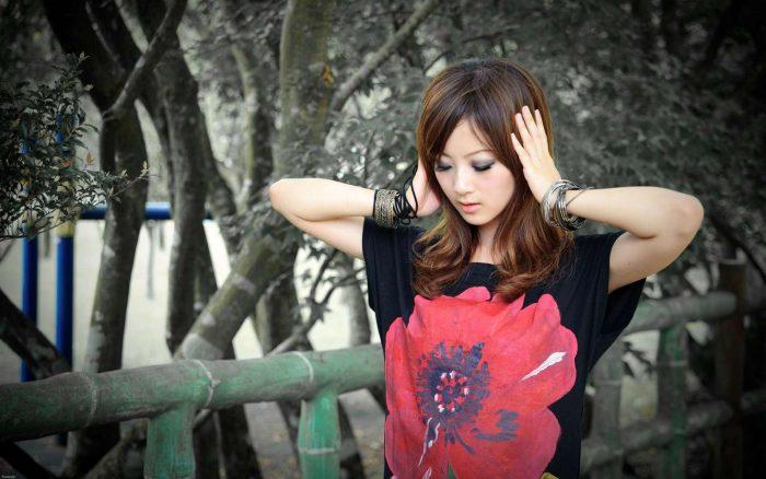 Девушка-подросток, японка