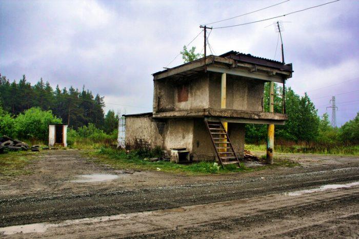 Заброшенный пост ГАИ в Краснотурьинске