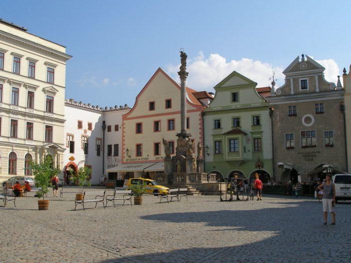 Площадь Согласия в Чески-Крумлове
