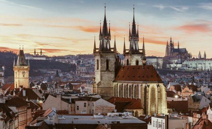 Вид на исторический центр Праги
