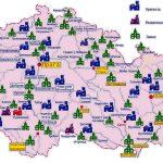 Карта замков и крепостей Чехии