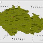 Карта Чешской Республики с административным делением