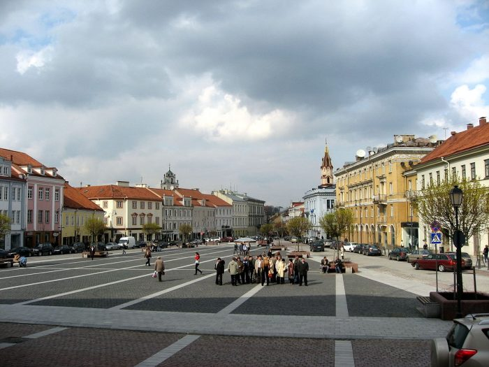 Ратушная площадь в Вильнюсе