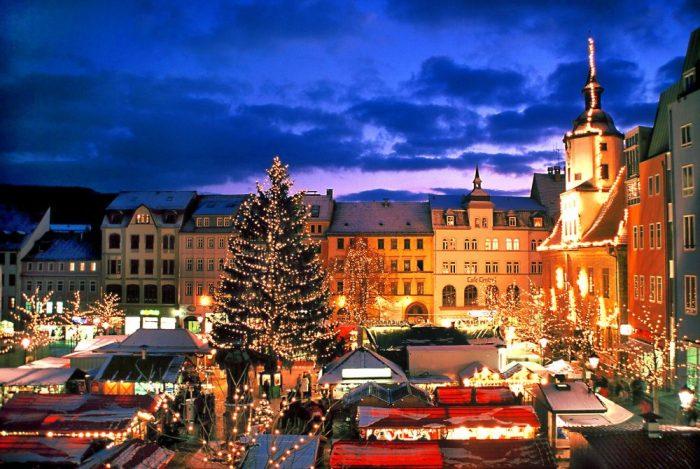 Рождественская иллюминация в Дании
