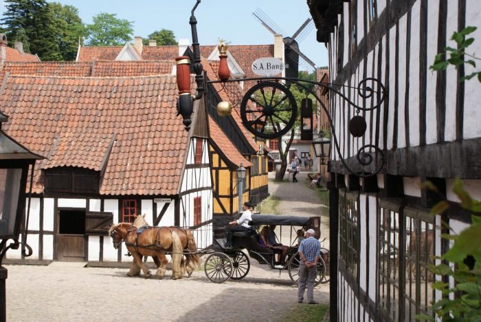 Старый город (Den Gamle By) в городе Орхуc (Arhus), Дания