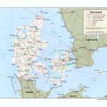 Дания на карте
