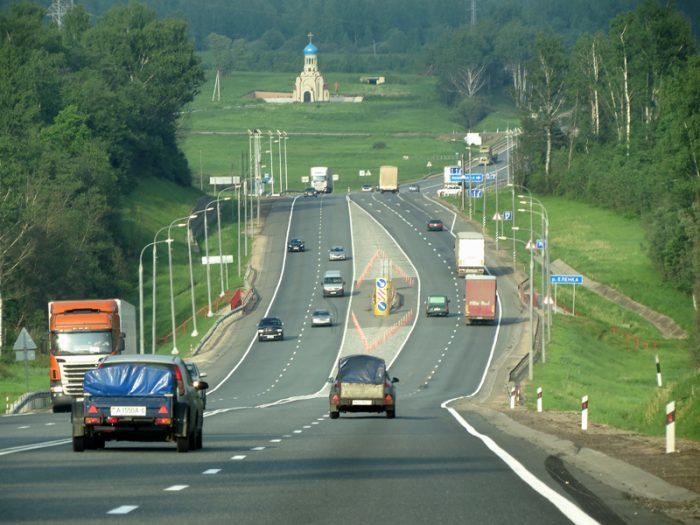 Автомобильная дорога в Литве