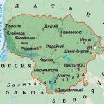 Карта Литвы