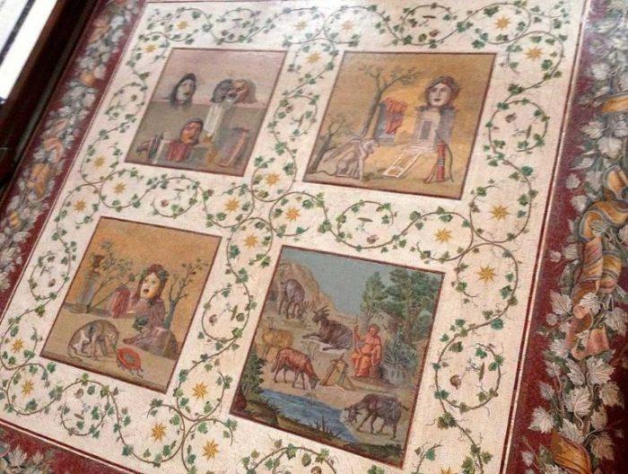 Напольная мозаика Кабинет Масок Ватикан