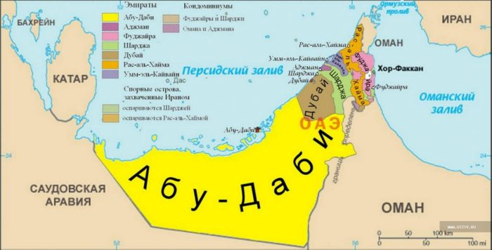 Географическое положение ОАЭ