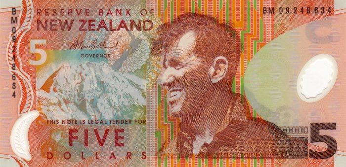 Пять новозеландских долларов