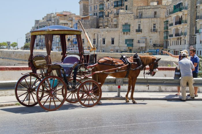 Конный экипаж на Мальте