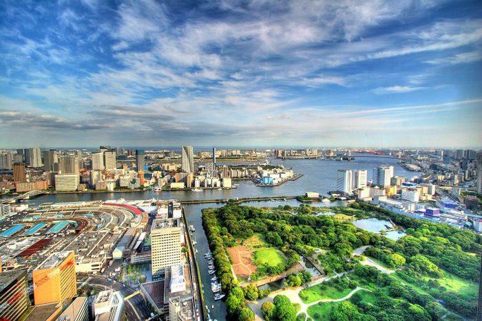 Вид на Токио с высоты