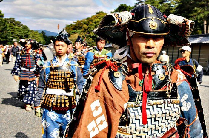 Участники фестиваля Дзидай-мацури