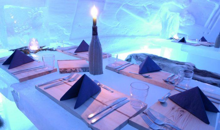 Интерьер отелей из льда