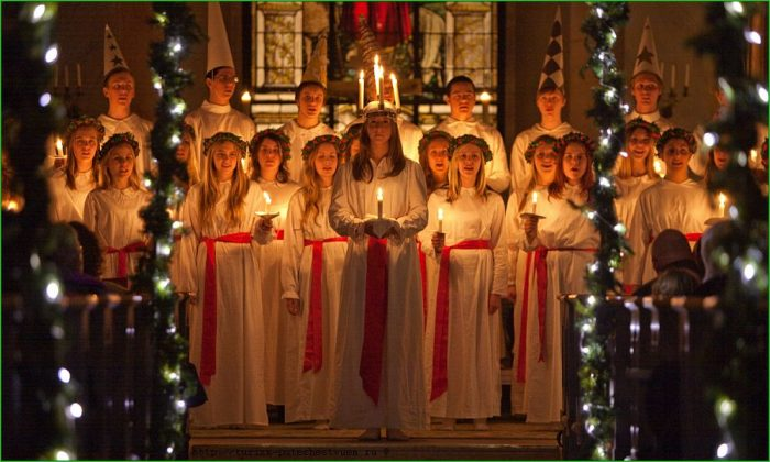 Праздник святой Люсии в Хельсинки