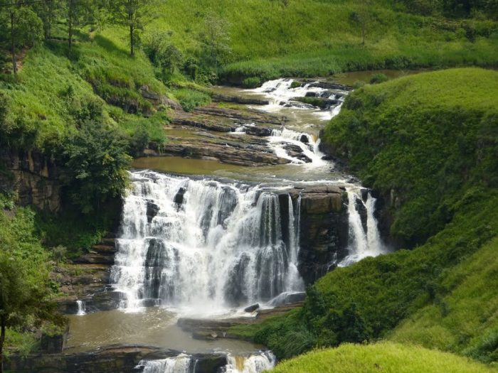 Водопад Сент-Клер на Шри-Ланке