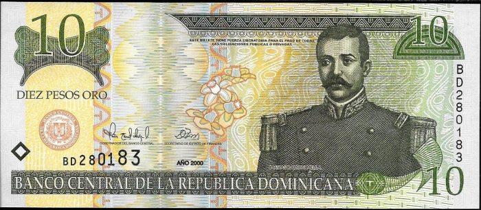 10 доминиканских песо