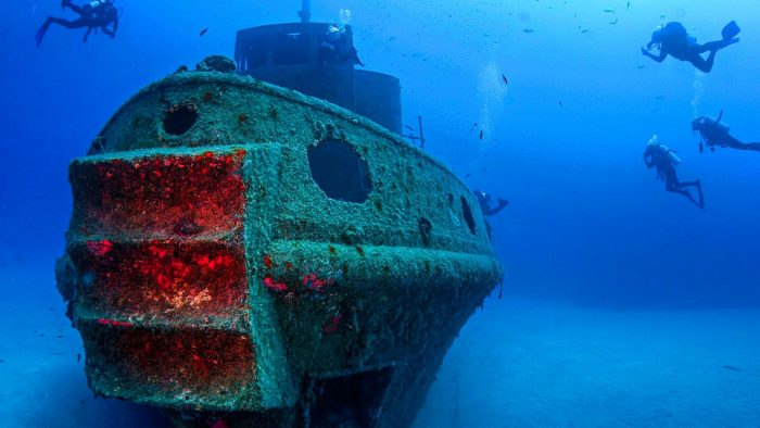 Затонувший корабль у берегов Доминиканы