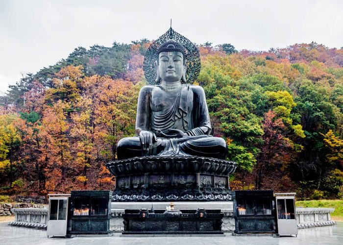 Статуя Будды у храма Синхынса