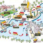 Карта набережной Сингапура
