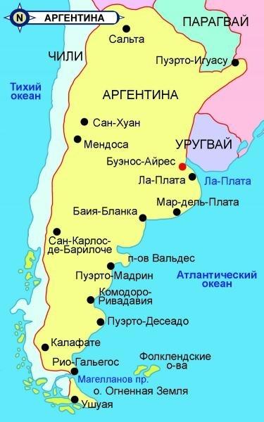 Карта Аргентины