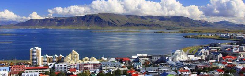 Город Рейкьявик - столица Исландии