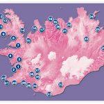 Схема кемпингов Исландии на карте