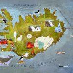 Карта с достопримечательностями Исландии
