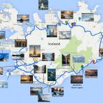 Карта достопримечательностей Исландии с фотографиями
