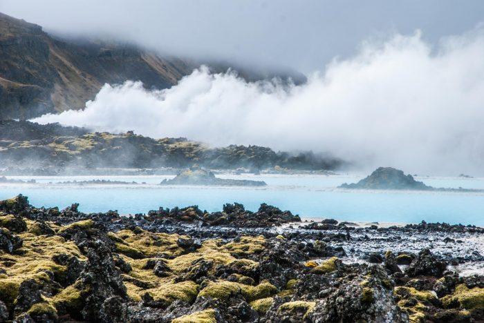 Дымный полуостров Рейкьянес в Исландии