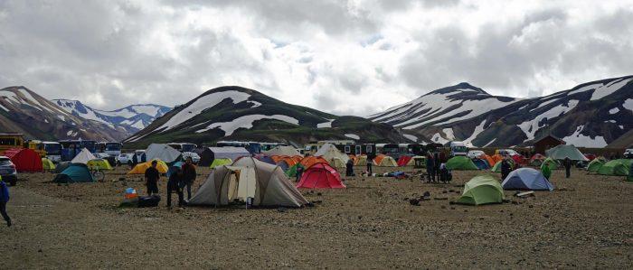 Кемпинг в горах Исландии