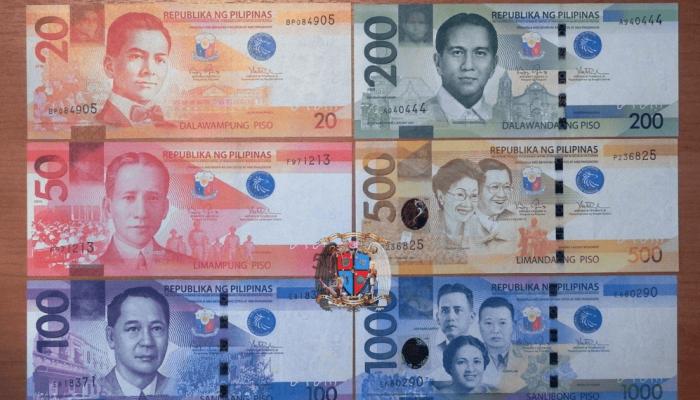 Филиппинский песо номиналом от 20 до 1000 единиц