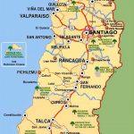 Карта Центрального Чили