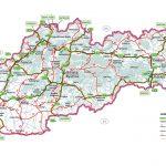 Карта автомобильных дорог Словакии